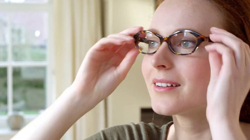 remove a cloudy film from eyeglasses