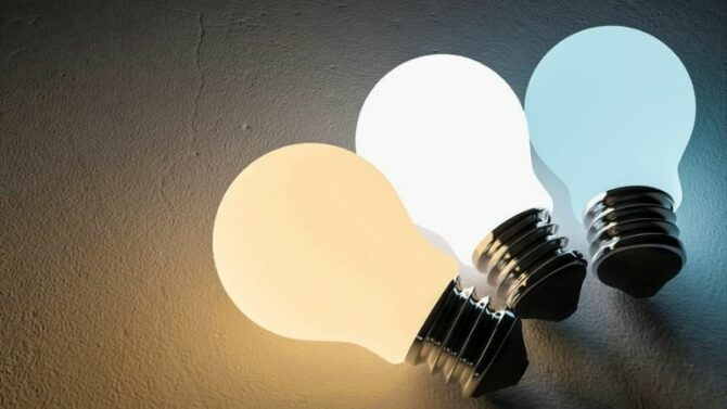 Which light is good for eyes white or yellow